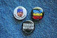 "Free Prison Mike The Office Scrantonicity Pin Pinback Button 1"" Dunder Mifflin"