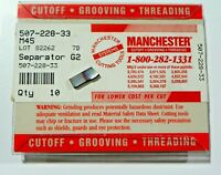 10 PIECES, MANCHESTER, 507-228-33 M45 CARBIDE INSERTS,   H551