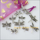 10 New Mixed Lots of Tibetan Silver Tone Animal Dragonfly Charms Pendants