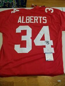Nebraska Trev Alberts Autographed Signed Red Jersey BAS Witnessed Cornhuskers