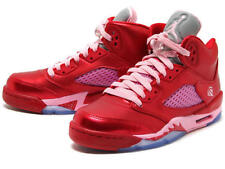 Nike Jordan 5 Retro Gs Valentine's Day Red Pink 440892 605 Girls Size 7Y Shoes