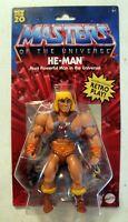 """NEW MOTU Origins He-Man 5.5"""" Action Battle Figure Walmart Exclusive 2020"""