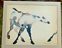 """Carol Grigg Signed """"Painted Ponies""""  Watercolor One half of a Diptych 30"""" x 24"""""""