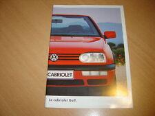 CATALOGUE VW Golf Cabriolet de juillet 1995