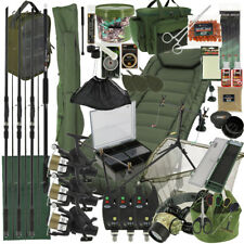 NGT BIG BOY Complete Carp Fishing Setup 3x Rods 3x Reels Tackle Holdall Bedchair