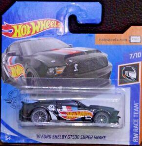 Hot Wheels '10 Ford Shelby GT500 Super Snake negro HW Race Team 7/10 192/250