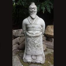 WARRIOR ZHAN SHI Stone Garden Ornament Statue Oriental Buddha Koi ⧫onefold-uk