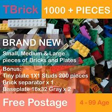 BULK LOT - 1000 PIECE BRAND NEW BRICKS BUILDING BLOCKS LEGO COMPATIBLE