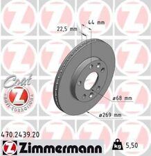 2x ZIMMERMANN Bremsscheibe Bremsscheiben Satz Bremsen COAT Z Vorne 470.2439.20