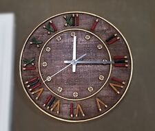 Montana West Short Gun Shell Wall Clock Antique Rustic Western Home Decoration