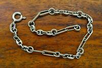 Vintage silver 1950's 1960's SINGLE ANCHOR LINK CHARM bracelet FOR CHARMS