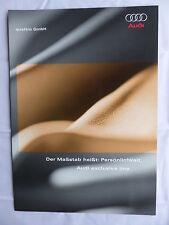 Audi quattro exclusive line - A3 A4 A6 - Prospekt Brochure - Großformat 05.2005