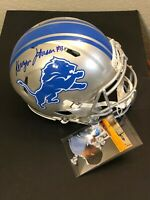 Kerryon Johnson Detroit Lions Signed Autograph Authentic Full Size Helmet Radtke