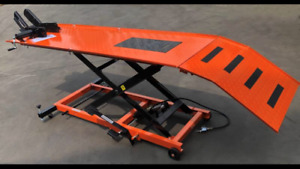 MOTORCYCLE LIFT BENCH, HOIST, AIR /HYD LIFT WORK BENCH 450kg (MB6003O)