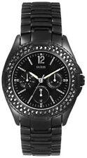 Guess Womens Black Rock Multifunction Metal Bracelet Watch G12543L