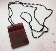 Chanel VIP gift pendant necklace charm on chain Rouge Noir rare