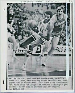 1975 Press Photo Bob McAdoo Buffalo Braves NBA 1974-75 MVP Award