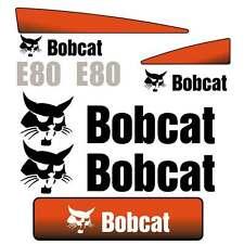 E80 DECALS, E80 Stickers, Bobcat E80 Decal Sticker repro Kit Mini Excavator