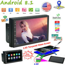 2DIN Android 8.1 Car Stereo Radio Touch Screen GPS Navi WiFi Bluetooth + US Map
