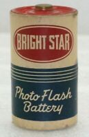 """Vintage Bright Star Photo Flash Battery """"Use By"""" Aug. 1953 Size D Paper Graphic"""