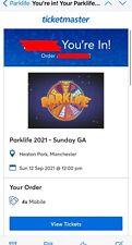 More details for parklife festival 2021- 3 x sunday ga