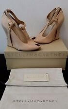 AUTHENTIC STELLA McCARTNEY ITALY NUDE WEDGE SANDALS SIZE 37.5 RRP$1199 WORN ONCE