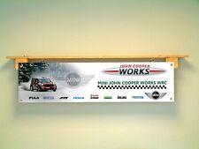 John Cooper Mini Works Banner WRC car Workshop Garage sign Rally Motorsport