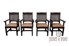 Stickley Mission Oak Set of 4 Arm Chairs (A)