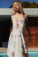 Cooper St Endless Love Train Deep V Floral Dress
