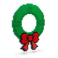 INOS-NOA: Build On Brick Holiday Wreath (Compatible with Mega Bloks, LEGO)