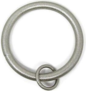 "1.5"" Inner Diameter Solid Metal Window Drapery Curtain Panel Ring with Eyelet"