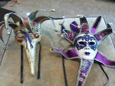 2 🎭 Mardi Gras Carnival Venetian Masquerade Mask, purchased while in Italy