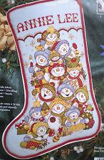 "Janlynn / Joan Elliott ""Snowman Tumble Stocking"" Counted Cross Stitch Kit"