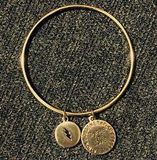 BCBG Generation Gold tone Share The Love Be Bold Charm Bangle Bracelet