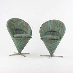 1960s Pair of Verner Panton Cone Chairs Made in Denmark for Plus-Linje Vitra