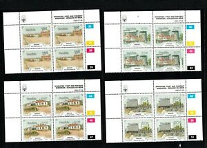 1990 Namibia (South West Africa,SWA) Windhoek Cent. set of 4 UM,in blocks of 4+