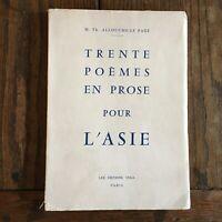 Dedica Th. Allouche-Le Pagine Thirtytwo Poesie IN Prosa Per Asia Vega 1960
