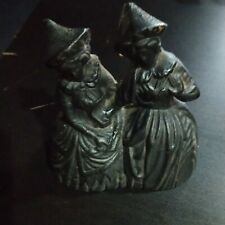 Cast Iron Double Twin Two Witches Witch Ladies Bell Nick Nacks Stove Top Vintage
