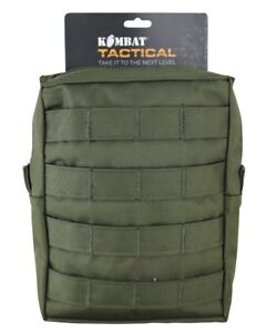 BRITISH ARMY STYLE MOLLE LARGE UTILITY POUCH in OLIVE GREEN