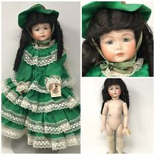 18� All Bisque K*R Reproduction By Martha – Scarlett-Like In Green Gown