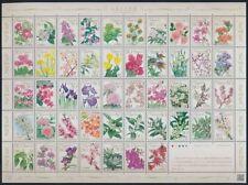 Briefmarken aus Asien mit Blumen-Motiv als Satz