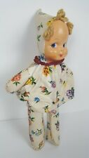 Old Celluloid Vtg Blonde Doll Side Glance Eyes Rosy lips Pointy Hat Pixie Clown