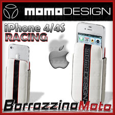 CUSTODIA COVER CELLULARE APPLE IPHONE 4 4S MOMODESIGN CELLULARLINE BIANCA RACING