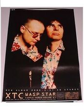XTC Japan official PROMO ONLY 73 x 51 cm POSTER Andy Partridge POST PUNK unused