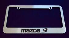 2 MAZDA 3 LICENSE PLATE FRAME, CUSTOM MADE OF CHROME 2 Frames