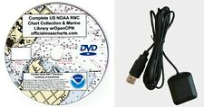 2200+ NOAA CHARTS ON DVD PLUS USB GPS RECEIVER AND MORE