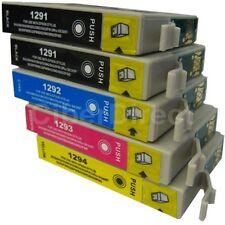 5 CiberDirect T1291 T1292 T1293 T1294 Ink Cartridges to fit Epson Printers