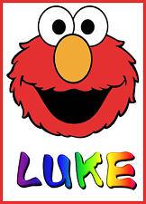 Lindo Elmo Personalizado Iron sobre transferencia de crear un llenador de la media