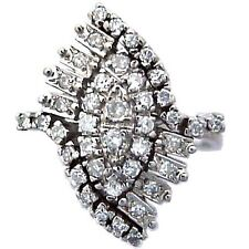 0.75 ct DIAMOND PLATINUM RING CLUSTER DESIGN