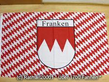Fahnen Flagge Franken Rot Schrift - 90 x 150 cm